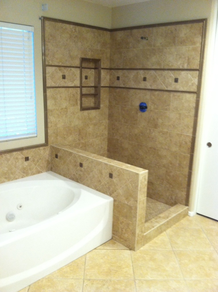 Master bath shower in Temecula